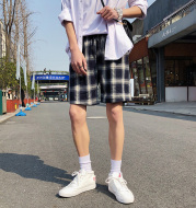 Summer New Loose Wild Retro Plaid Shorts