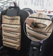 Multifunctional canvas hanging storage bag