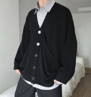 Large pocket casual loose sweater