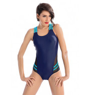 A one-piece bathing suit