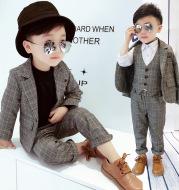 Children's checked suit