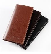 Soft leather long slim wallet