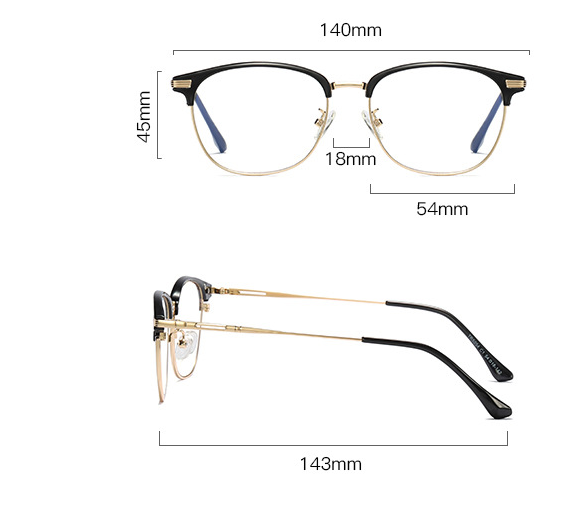Square Blue Light Glasses S3565 8