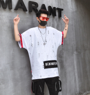 T-shirt youth hole short sleeve body blood