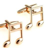 Musician instrument golden music note sleeve