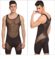 Men's mesh bodysuit