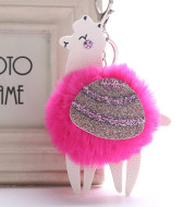Small wool ball pendant