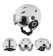 New ski helmet adult safety helmet with snow goggles