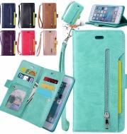 For iPhone X Xr Xs  Card Zipper Wallet