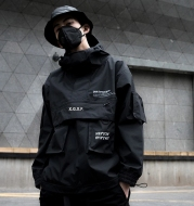 Hooded casual tooling jacket