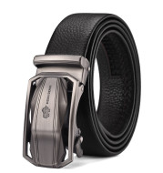 Men's Leather Belt Business Automatic Buckle Belt