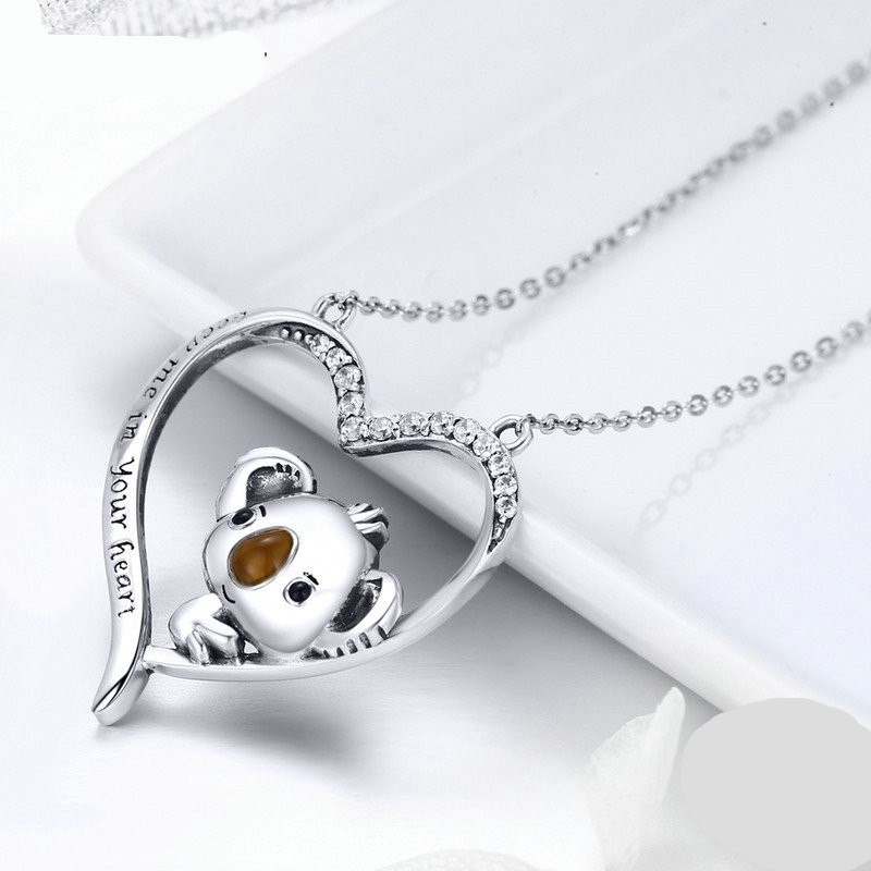 Schattige Koala Dames ketting (Silver) 925 zilver - voor dames