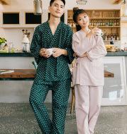 Two-piece cotton kimono for men and women