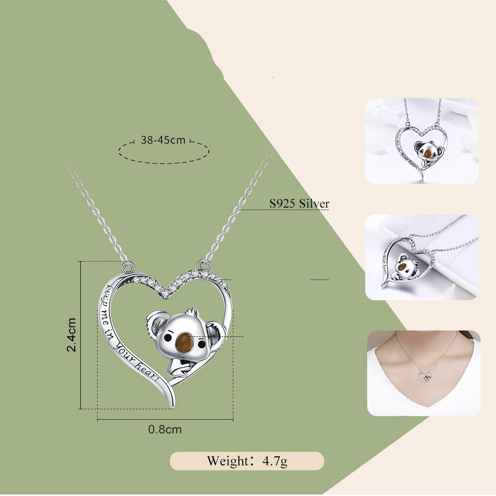 Schattige Koala Dames ketting (Silver) 925 zilver
