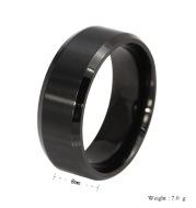 Simple ring titanium steel ring