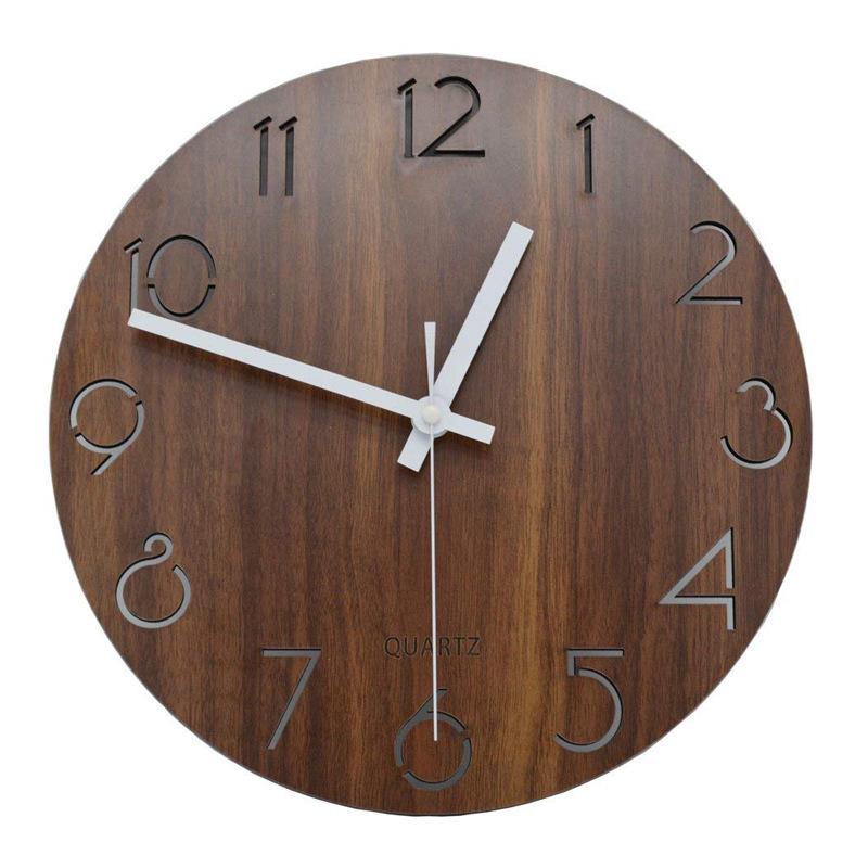 smart Wooden Wall clock