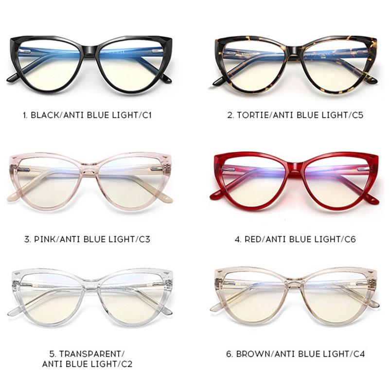 Blue Light Blocking Cat Eye Glasses Cat101 22