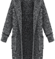 Cardigan hooded loose sweater