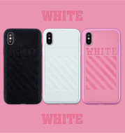 White Letter Pattern Leather Luxury Phone Case