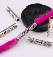 10 Pcs / Lot silver metal hollow hair braid