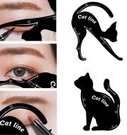 Eye shadow eyeliner makeup tool cat eye card