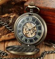 Vintage bronze large pocket watch