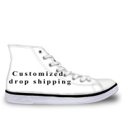 Men's Vulcanize Shoes Classic Superstar High Top Canvas Shoes Customized Pictures