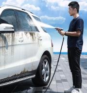 High-pressure car wash water gun telescopic water nozzle
