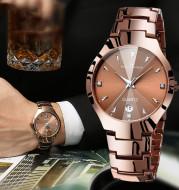 Luminous with calendar couple watch