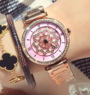 Time to run watch Fashion ladies quartz watch Diamond waterproof steel watch