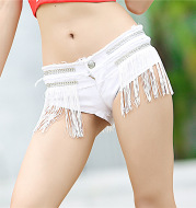 Slim Skinny Fringe Super Shorts