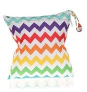 Single zip diaper storage bag