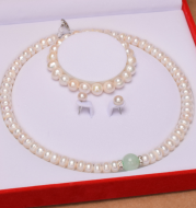 Pearl necklace plump white natural