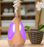 550ML Creative Air Humidifier Aroma Essential Oil Diffuser Cool Mist with Colorful LED Light for Yoga Spa Living Room