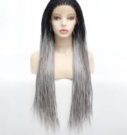 Grey Triple Strand Dirty Braided Headgear