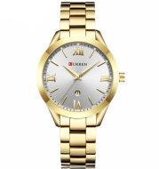 Steel strap casual quartz watch