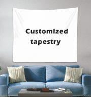 Digital printing tapestry custom home decoration background fabric