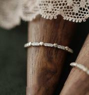 Simple Love Row Diamond Ring