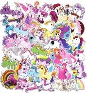 50 unique unicorn stickers