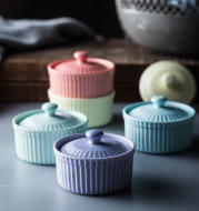 New Nordic style ceramic baking bowl with lid