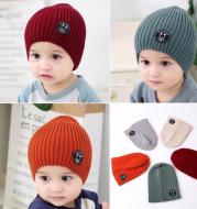 Children Unisex Fashion Ribbed Hat