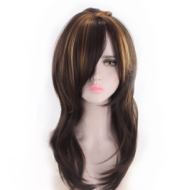 Europe and America  trend spot medium long curl wig