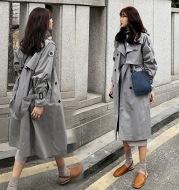 Women's mid-length Korean coat
