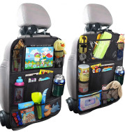 Child car seat back cover touch screen