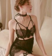 Translucent sexy nightdress