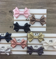 Nylon rope solid color bow baby hair ring