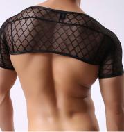 Fishnet Short Sleeve Crop Top