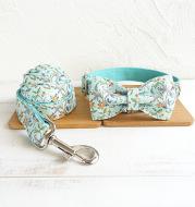 Thermal transfer flower dog collar drawstring bow