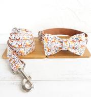 Christmas Series Dog Collar Bow Traction Set