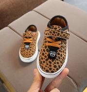 Leopard print children's sneakers